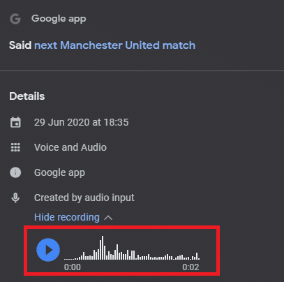 Google Assistant Recording Removal