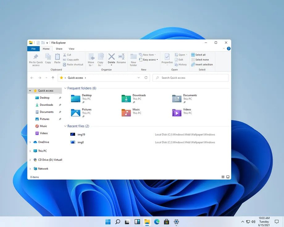 Windows 11 - Rounded corners